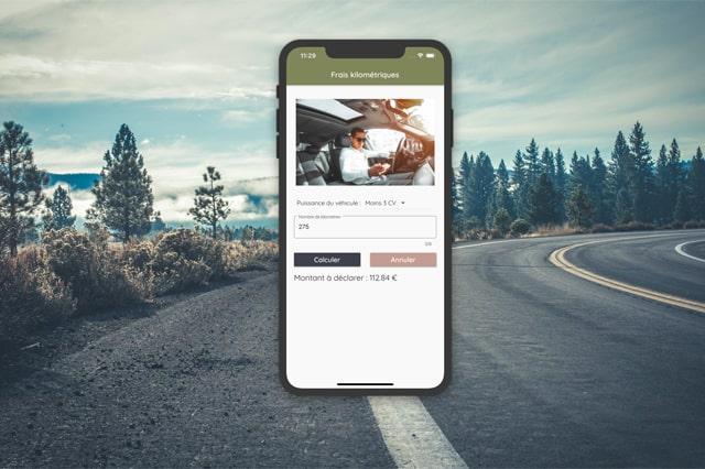 Application mobile : Frais kilométriques